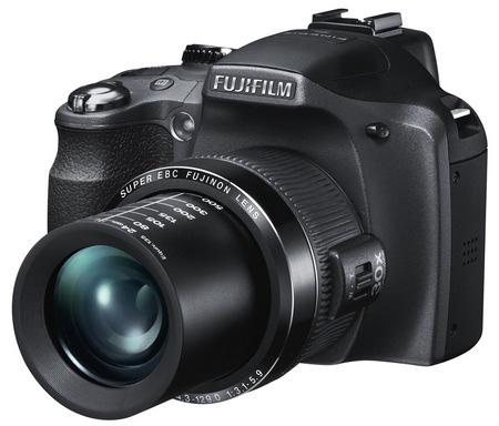 Fujifilm FinePix SL300, SL280, SL260 and SL240 Ultra Zoom Bridge Cameras angle