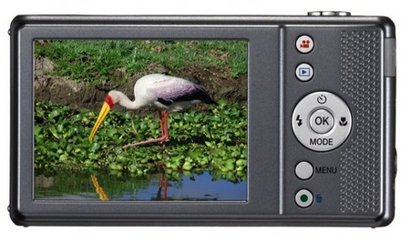 Pentax Optio VS20 Digital Camera with Vertical Shutter Button back