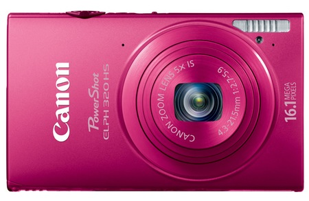Canon PowerShot ELPH 320 HS Digital Camera pink