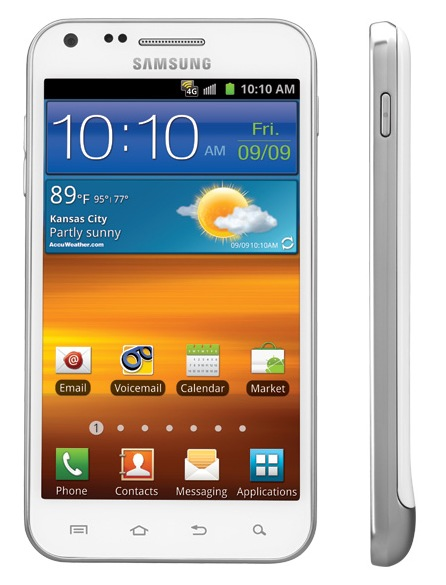 Sprint Samsung Epic 4G Touch Smartphone Frost White side