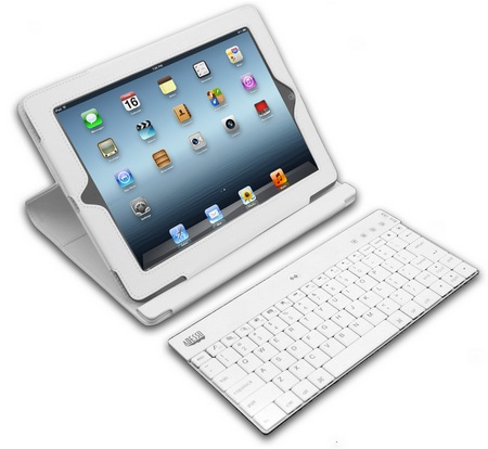 Adesso Compagno 3 WKB-1000DW Bluetooth Keyboard Case for new iPad 1