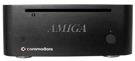 Commodore AMIGA mini Small Form Factor PC black front