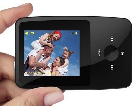 Ematic eSport Clip Portable Media Player on hand