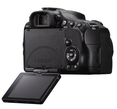 Sony Alpha A57 DSLR Camera with Translucent Mirror swivel display 1
