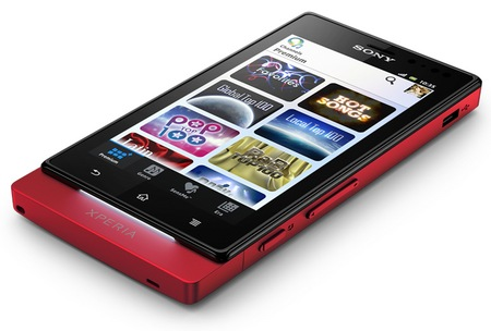 Sony Xperia sola Smartphone with Floating Touch red