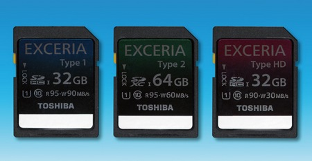 Toshiba EXCERIA Series Ultra High Speed SDHC SDXC cards