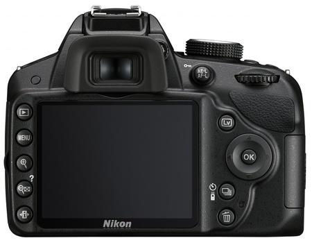 Nikon D3200 Entry-level DSLR Camera back.