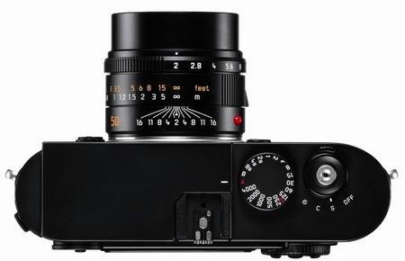 Leica M MONOCHROM Black-and-White Camera top