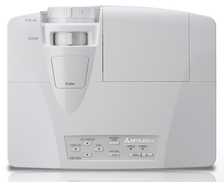 Mitsubishi WD720U and XD700U Professional DLP Projectors top