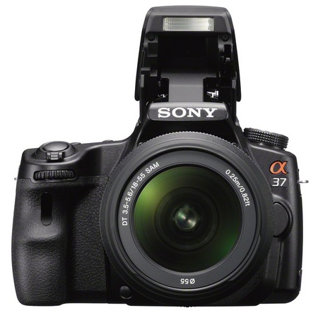 Sony Alpha SLT-A37 Entry-level DSLR Camera front