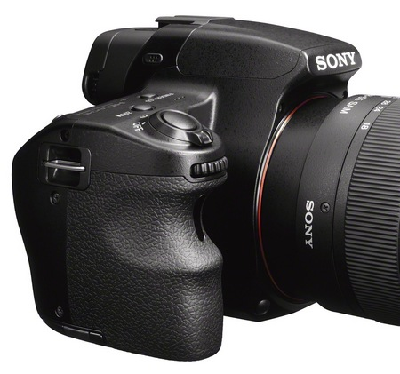 Sony Alpha SLT-A37 Entry-level DSLR Camera side