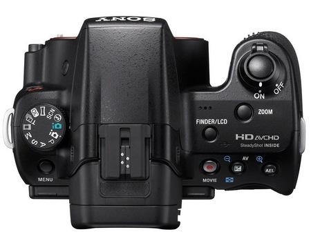 Sony Alpha SLT-A37 Entry-level DSLR Camera top