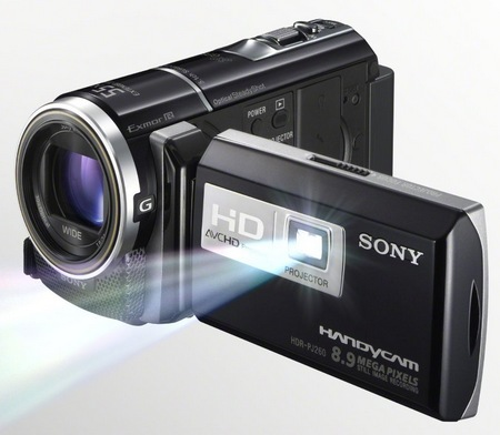 Sony Handycam HDR-PJ260V Camcorder with built-in Projector