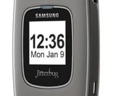 GreatCall Samsung Jitterbug Plus Clamshell Phone silver