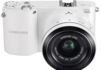 Samsung NX1000 SMART Mirrorless Camera white