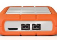 LaCie Rugged Triple USB 3.0 External Hard Drive ports