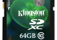 Kingston SDX10V SDXC Class 10 64GB and 128GB Memory Cards