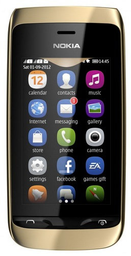 Nokia Asha 308 S40 Touchscreen Phone dual sim front
