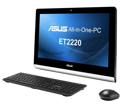 Asus ET2220 series All-in-one PC with 10-point Multitouch Display with keyboard mouse