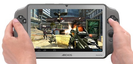 Archos GamePad 7-inch Android Gaming Tablet on hand