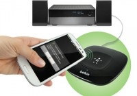 Belkin HD Bluetooth Music Receiver supports NFC for tap-and-play in use