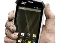 Caterpillar CAT B15 Rugged Android Smartphone on hand