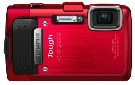 Olympus STYLUS TOUGH TG-830 iHS rugged camera red