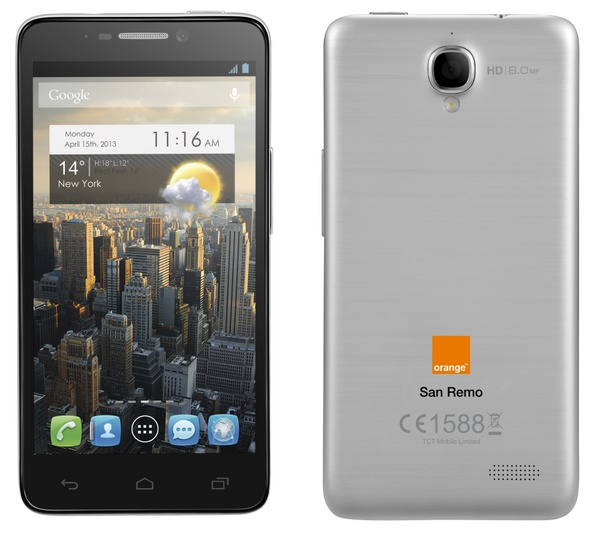 Orange San Remo 4.7-inch Android smartphone