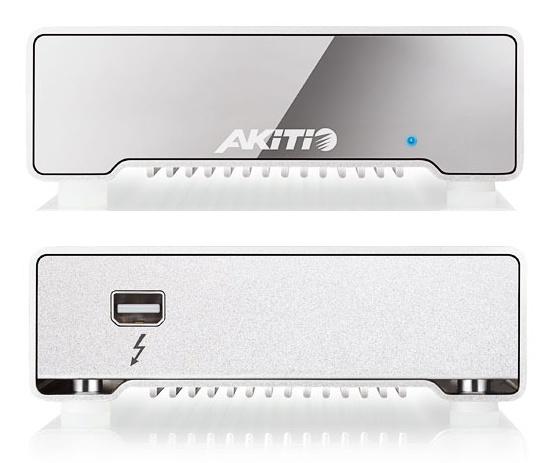 Akitio 256 GB Neutrino Thunderbolt External SSD front back