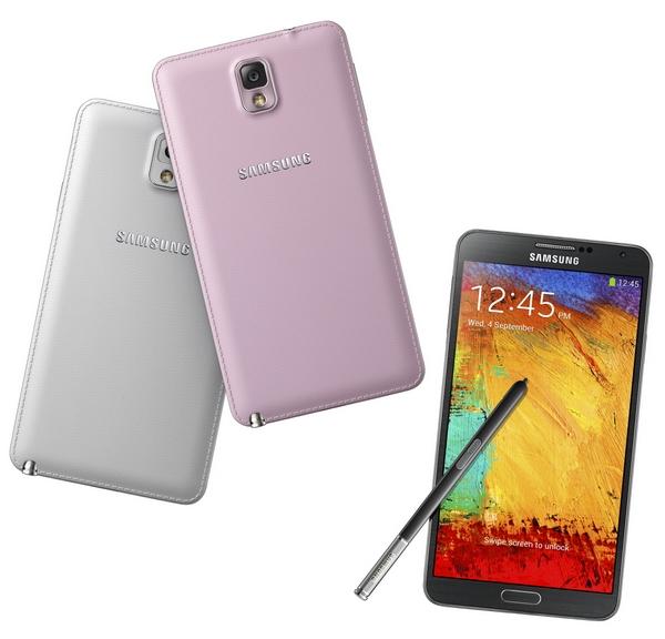 Samsung Galaxy Note 3 colors