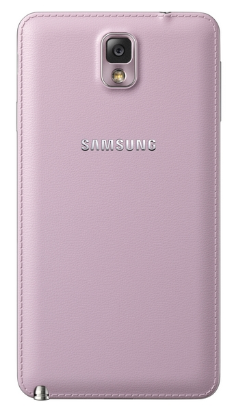 Samsung Galaxy Note 3 pink back
